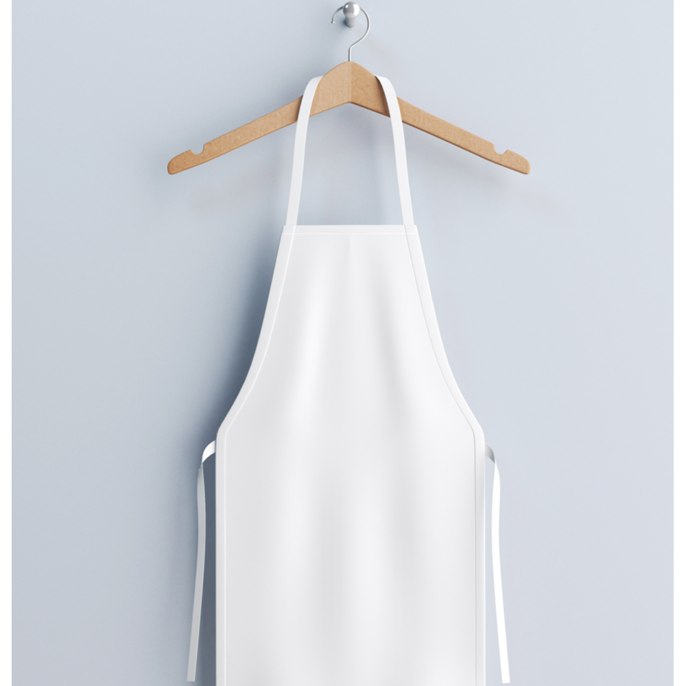 Commercial White Apron 34x36 Blended Poly-Cotton 65/45 - 25dz (300 pc)
