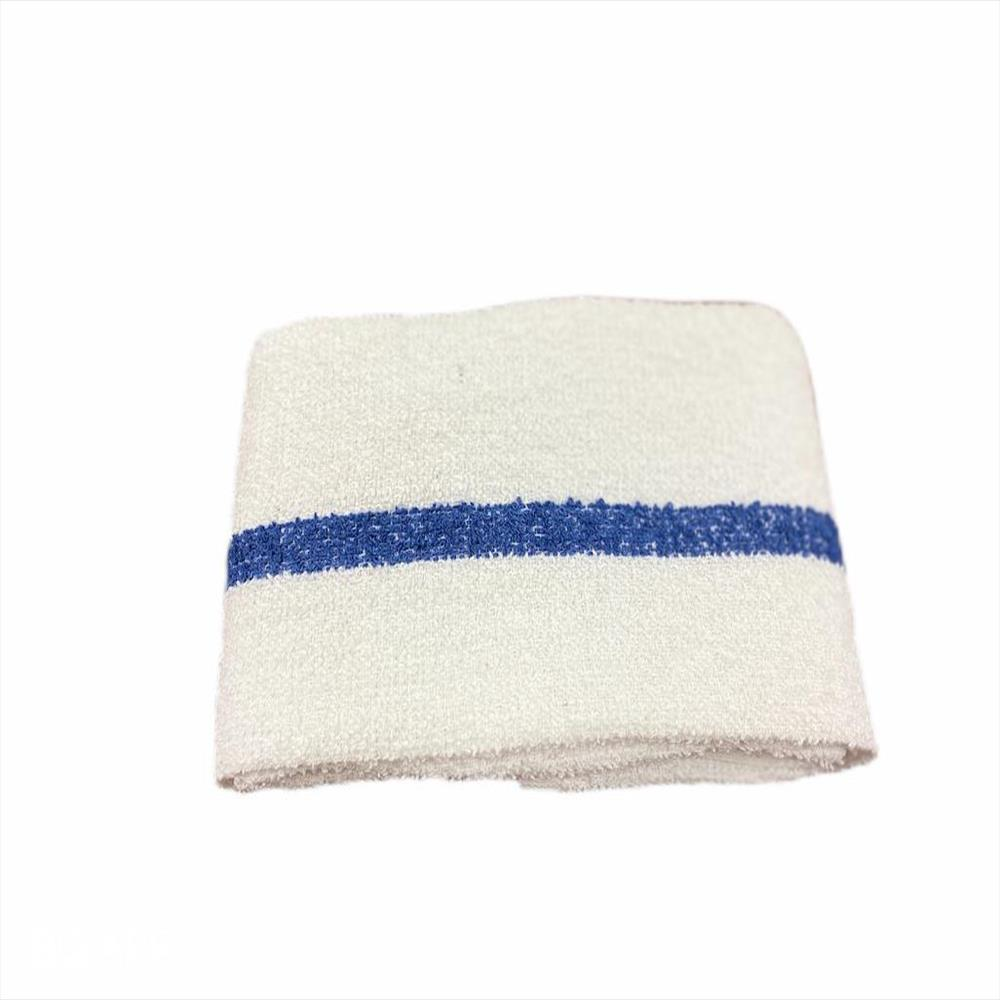 Terry Bar-Mop 16x19, 32 oz Blue Stripe- Premium