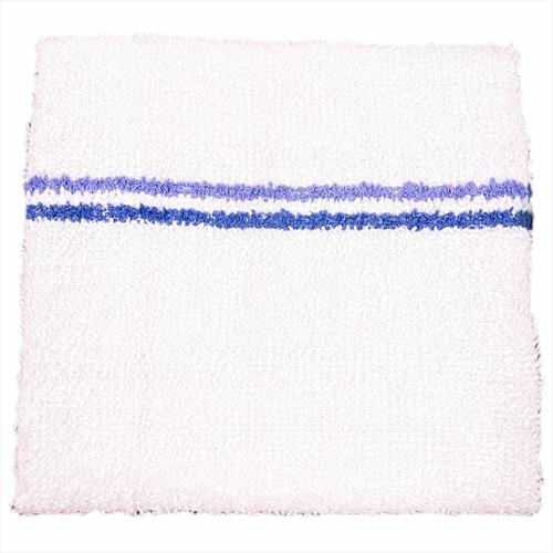 Terry Bar-Mop 16x19, 26oz Twin Stripe Blue- Economy