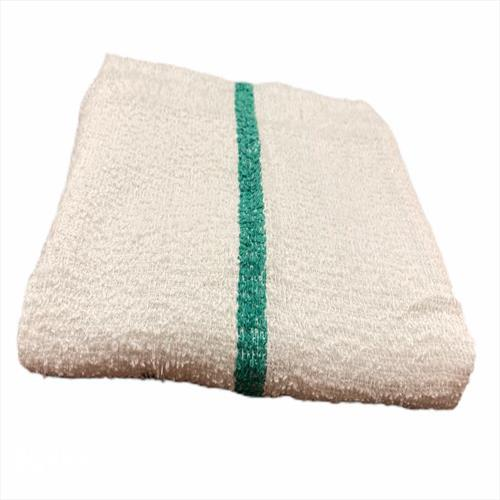 Terry Bar-Mop 16x19, 30 oz Green Stripe- Premium