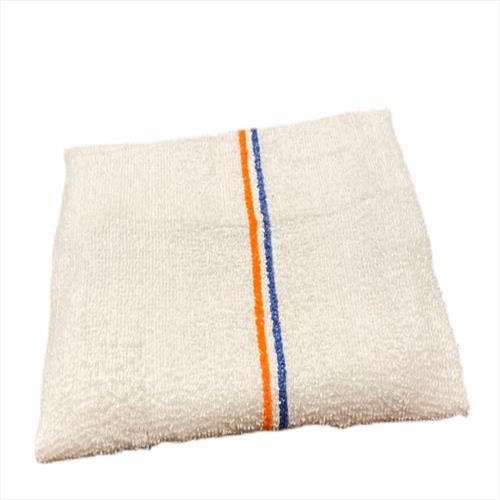 Terry Bar-Mop 16x19 32oz Double Stripe Orange/Blue- Premium